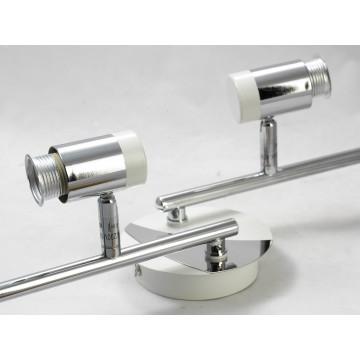 Потолочный светильник с регулировкой направления света Lussole Loft Parma LSX-5009-04, IP21, 4xE14x40W, белый, хром, металл, стекло - миниатюра 3