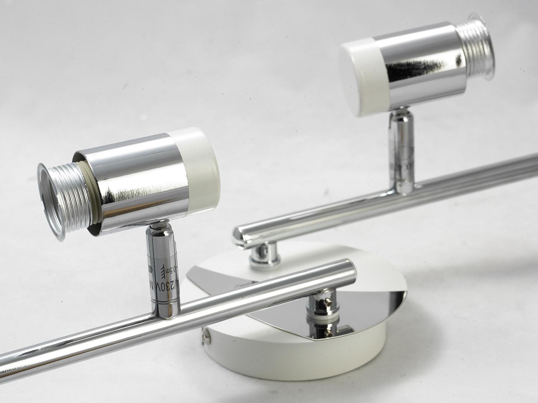 Потолочный светильник с регулировкой направления света Lussole Loft Parma LSX-5009-04, IP21, 4xE14x40W, белый, хром, металл, стекло - фото 3