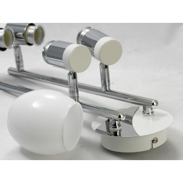 Потолочный светильник с регулировкой направления света Lussole Loft Parma LSX-5009-04, IP21, 4xE14x40W, белый, хром, металл, стекло - миниатюра 4