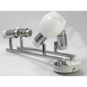 Потолочный светильник с регулировкой направления света Lussole Loft Parma LSX-5009-04, IP21, 4xE14x40W, белый, хром, металл, стекло - миниатюра 5
