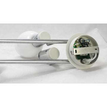 Потолочный светильник с регулировкой направления света Lussole Loft Parma LSX-5009-04, IP21, 4xE14x40W, белый, хром, металл, стекло - миниатюра 6