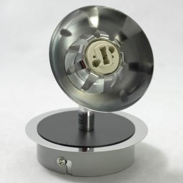 Потолочный светильник с регулировкой направления света Lussole Rapallo LSX-4901-01, IP21, 1xG9x40W, хром, белый, металл, стекло - миниатюра 3