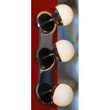 Потолочный светильник с регулировкой направления света Lussole Rapallo LSX-4901-03, IP21, 3xG9x40W, хром, белый, металл, стекло