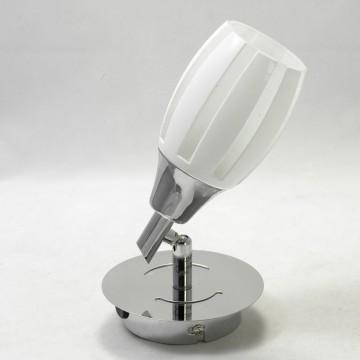 Настенный светильник с регулировкой направления света Lussole Brindidi LSX-6701-01, IP21, 1xE14x40W, хром, белый, металл, стекло