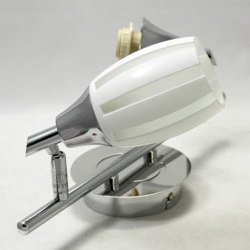 Потолочный светильник с регулировкой направления света Lussole Brindidi LSX-6701-02, IP21, 2xE14x40W, хром, белый, металл, стекло - миниатюра 3