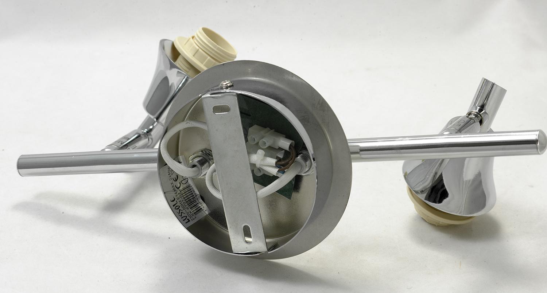 Потолочный светильник с регулировкой направления света Lussole Brindidi LSX-6701-02, IP21, 2xE14x40W, хром, белый, металл, стекло - фото 4