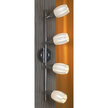 Потолочный светильник с регулировкой направления света Lussole Brindidi LSX-6709-04, IP21, 4xE14x40W, хром, белый, металл, стекло