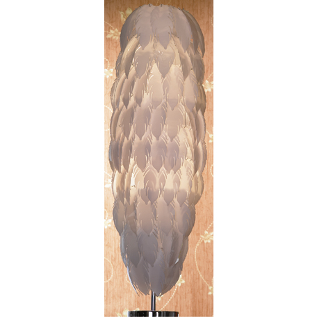 Торшер Lussole Loft Vercelli LSQ-1905-02, IP21, 2xE27x60W, хром, белый, металл, пластик
