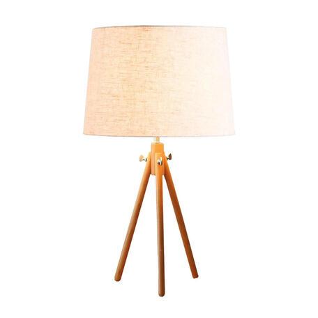 Настольная лампа Loft It Natural LOFT7112T, 1xE27x60W, коричневый, бежевый, дерево, текстиль