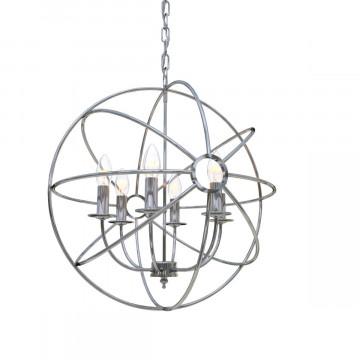 Подвесная люстра Loft It Foucaults orb LOFT1193-6, 6xE14x40W, хром, металл - миниатюра 5