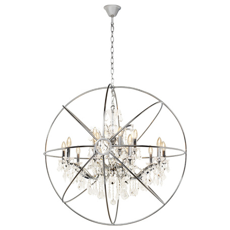Подвесная люстра Loft It Foucaults Orb Crystal LOFT1896/15, 15xE14x40W