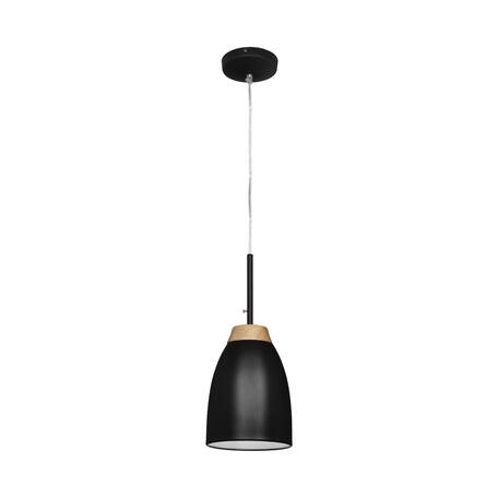 Подвесной светильник Loft It Watchman LOFT4402A-BL, 1xE27x60W, черный, черный с коричневым, металл, металл с деревом