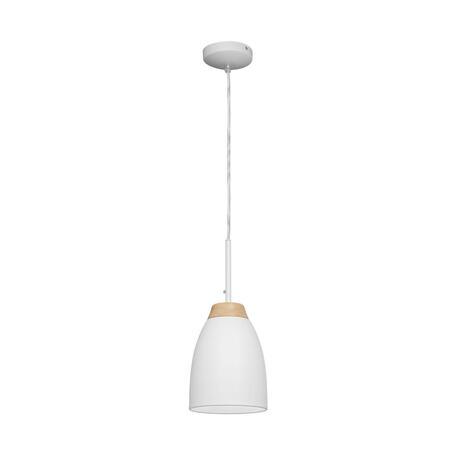 Подвесной светильник Loft It Watchman LOFT4402A-WH, 1xE27x60W, белый, белый с коричневым, металл, металл с деревом