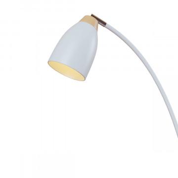 Торшер Loft It Watchman LOFT4402F-WH, 1xE27x60W, белый с хромом, белый с коричневым, металл, металл с деревом - миниатюра 3