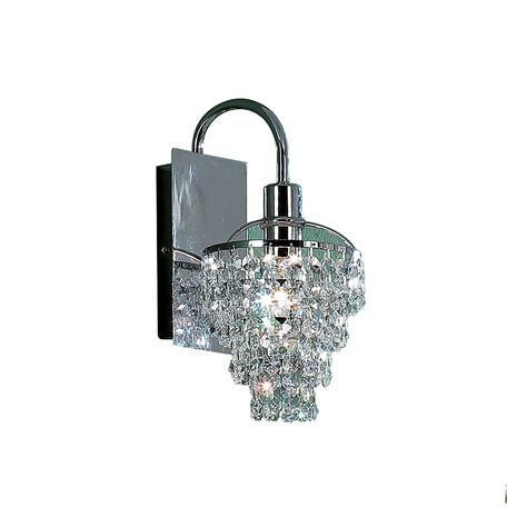 Бра Citilux Контур CL322311, 1xE14x60W, хром, прозрачный, металл, хрусталь