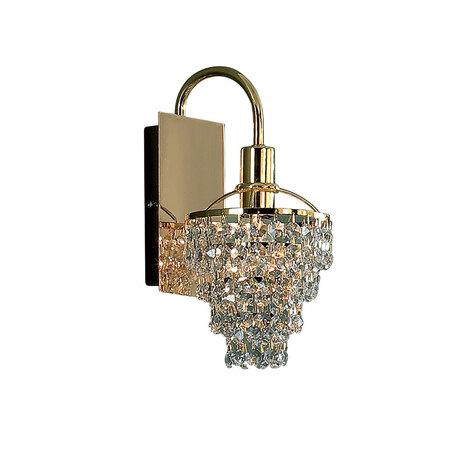 Бра Citilux Контур CL322411, 1xE14x60W, золото, прозрачный, металл, хрусталь