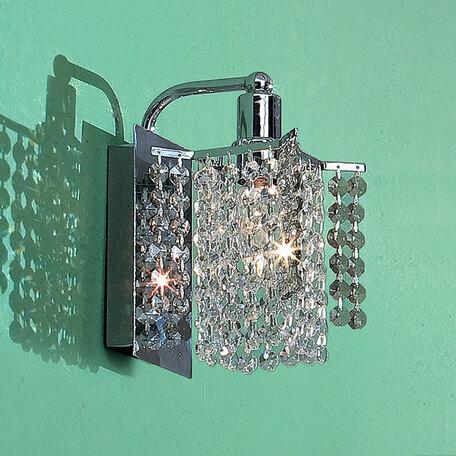 Бра Citilux Лекс CL323311, 1xE14x60W, хром, прозрачный, металл, хрусталь