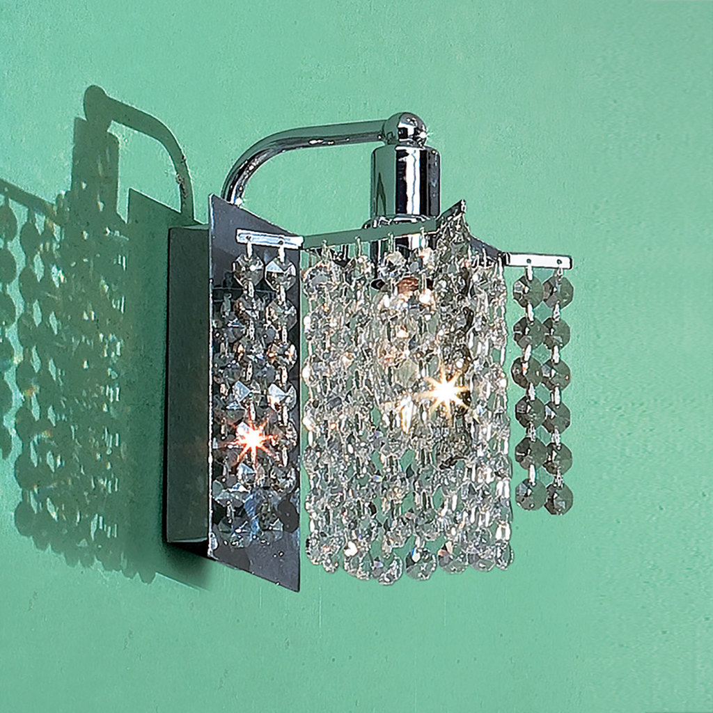 Бра Citilux Лекс CL323311, 1xE14x60W, хром, прозрачный, металл, хрусталь - фото 1