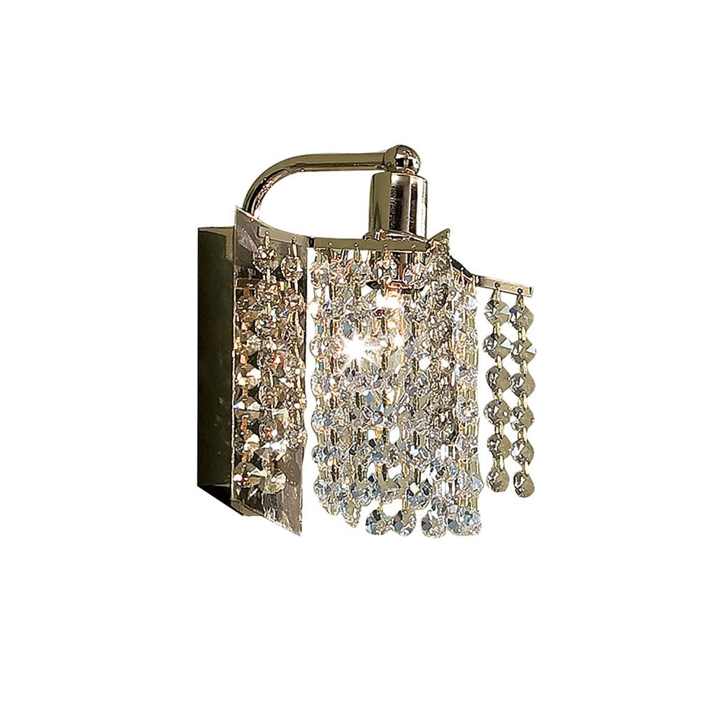 Бра Citilux Лекс CL323411, 1xE14x60W, золото, прозрачный, металл, хрусталь - фото 1