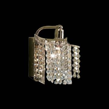 Бра Citilux Лекс CL323411, 1xE14x60W, золото, прозрачный, металл, хрусталь - миниатюра 2