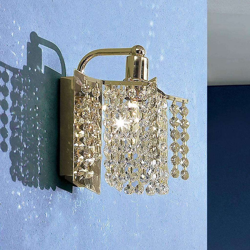 Бра Citilux Лекс CL323411, 1xE14x60W, золото, прозрачный, металл, хрусталь - фото 3