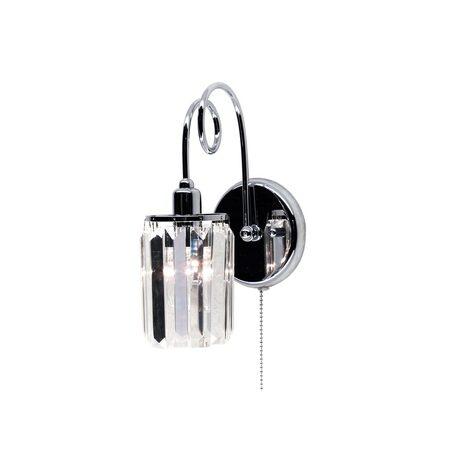 Бра Citilux Синди CL330311, 1xE14x60W, хром, прозрачный, металл, хрусталь
