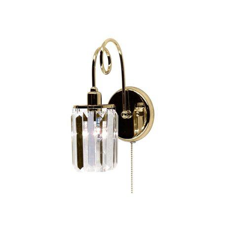 Бра Citilux Синди CL330312, 1xE14x60W, золото, прозрачный, металл, хрусталь