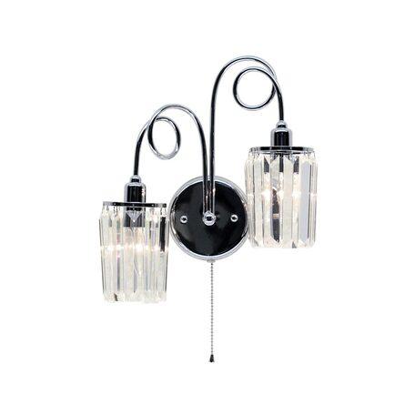 Бра Citilux Синди CL330321, 2xE14x60W, хром, прозрачный, металл, хрусталь