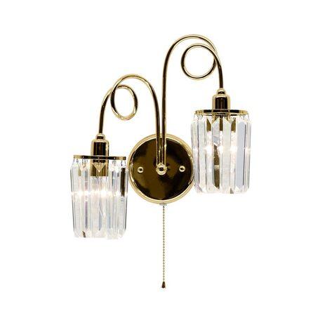 Бра Citilux Синди CL330322, 2xE14x60W, золото, прозрачный, металл, хрусталь