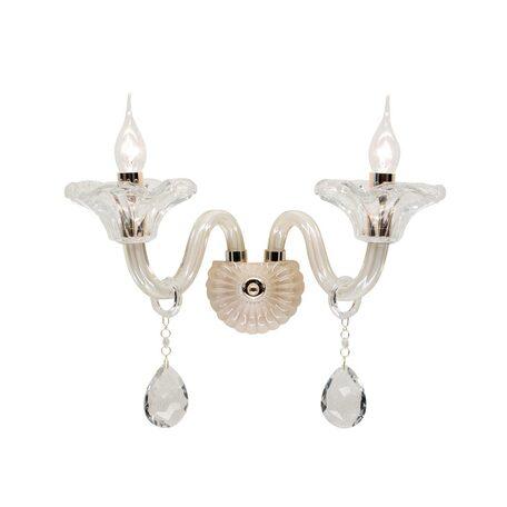 Бра Citilux Ирида CL351321, 2xE14x60W, янтарь, прозрачный, стекло, хрусталь