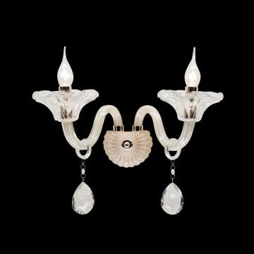 Бра Citilux Ирида CL351321, 2xE14x60W, золото, янтарь, прозрачный, металл, стекло, хрусталь - миниатюра 2