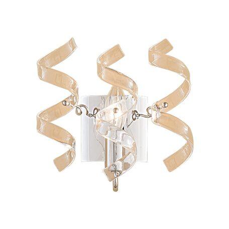 Настенный светильник Citilux Рандом CL222320, 1xE14x60W, прозрачный, хром, металл, стекло