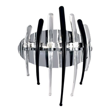 Настенный светильник Citilux Арго CL252332, 3xG4x20W, хром, прозрачный, черный, металл, стекло