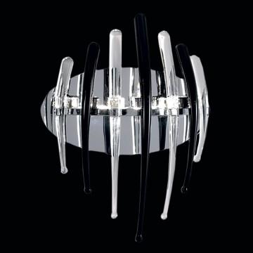 Настенный светильник Citilux Арго CL252332, 3xG4x20W, хром, прозрачный, черный, металл, стекло - миниатюра 2