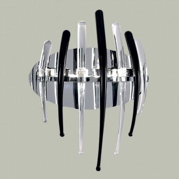 Бра Citilux Арго CL252332, 3xG4x20W, хром, черный, прозрачный, металл, стекло - миниатюра 3