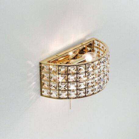 Бра Citilux Портал CL324302, 2xE14x60W, золото, хрусталь