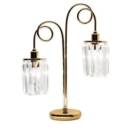 Настольная лампа Citilux Синди CL330822, 2xE14x60W, золото, прозрачный, металл, хрусталь
