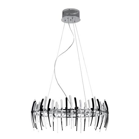 Подвесная люстра Citilux Арго CL252152, 15xG4x20W, хром, прозрачный, черный, металл, стекло