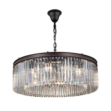 Подвесная люстра Citilux Мартин CL332161, 16xE14x60W, венге, золото, прозрачный, металл, хрусталь