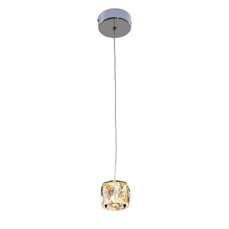 Подвесной светодиодный светильник Citilux Спектра CL320011, хром, прозрачный, металл, пластик