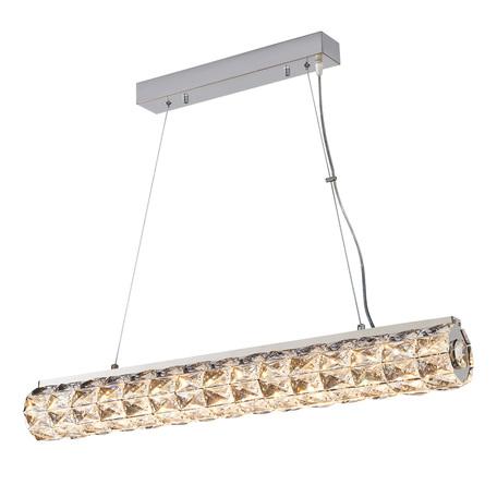Подвесной светодиодный светильник Citilux Спектра CL320331, LED 36W 3000K 2340lm, хром, прозрачный, металл, пластик