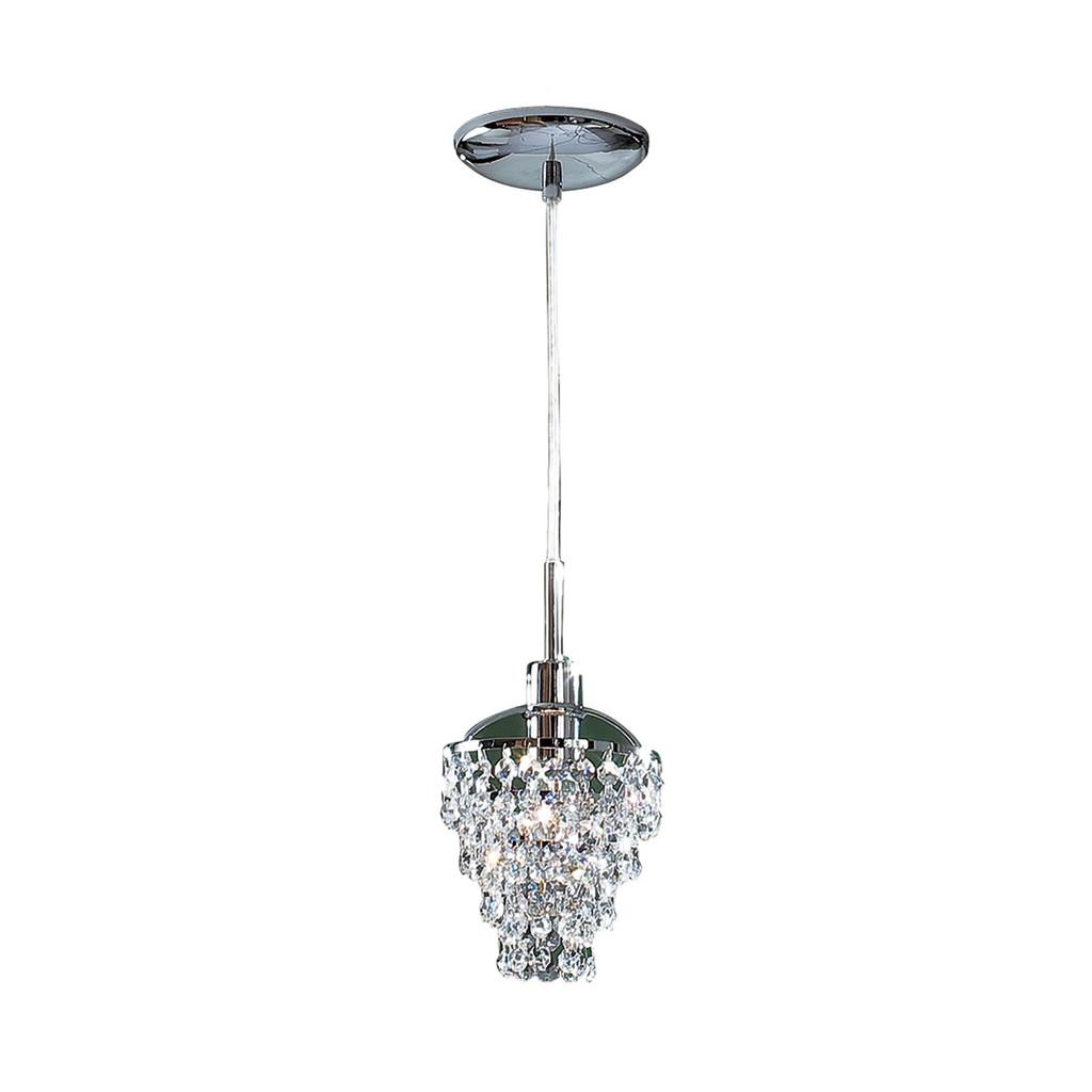 Подвесной светильник Citilux Контур CL322111, 1xE14x60W, хром, прозрачный, металл, хрусталь - фото 1