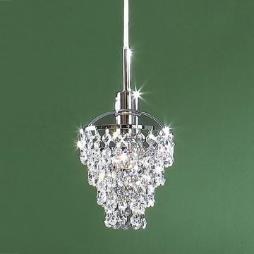 Подвесной светильник Citilux Контур CL322111, 1xE14x60W, хром, прозрачный, металл, хрусталь - миниатюра 3
