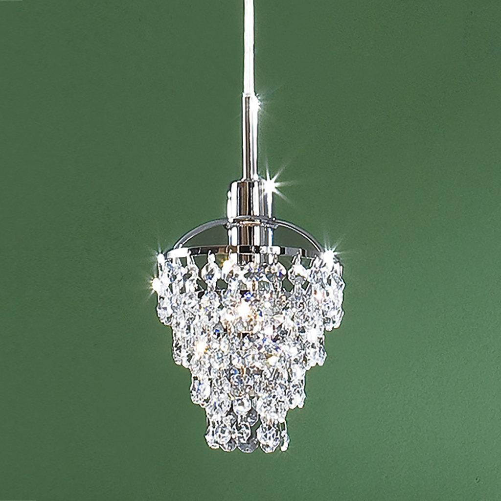 Подвесной светильник Citilux Контур CL322111, 1xE14x60W, хром, прозрачный, металл, хрусталь - фото 3