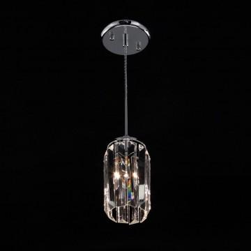 Подвесной светильник Citilux Синди CL330111, 1xE14x60W, хром, прозрачный, металл, хрусталь - миниатюра 2