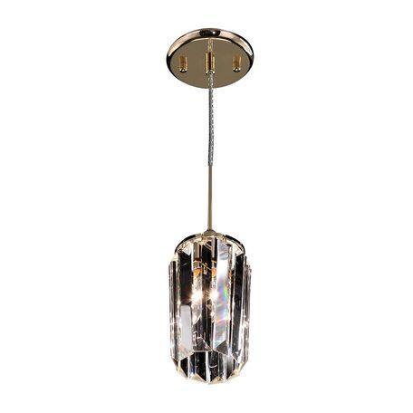 Подвесной светильник Citilux Синди CL330112, 1xE14x60W, золото, прозрачный, металл, хрусталь