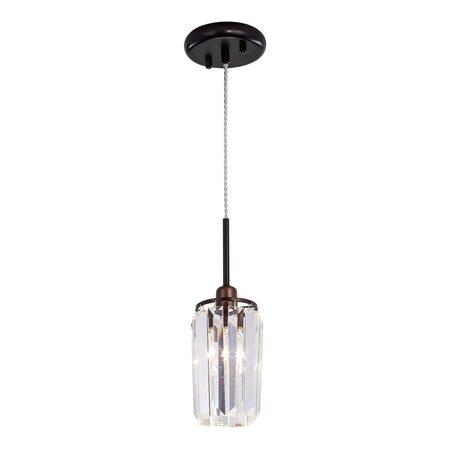 Подвесной светильник Citilux Синди CL330113, 1xE14x60W, коричневый, прозрачный, металл, хрусталь