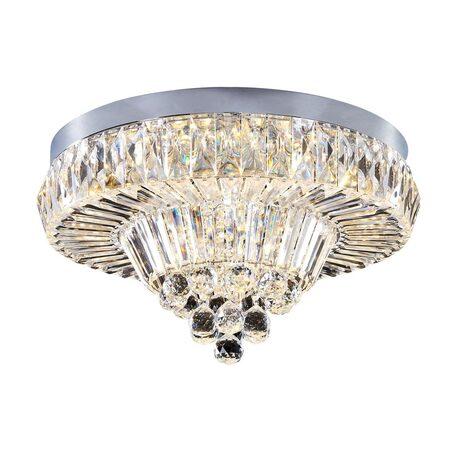 Потолочная светодиодная люстра Citilux Спектра CL320121, LED 72W 3000K 4680lm, хром, прозрачный, металл, пластик