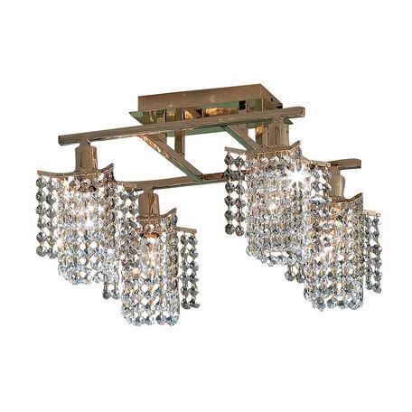 Потолочная люстра Citilux Лекс CL323241, 4xE14x60W, золото, прозрачный, металл, хрусталь