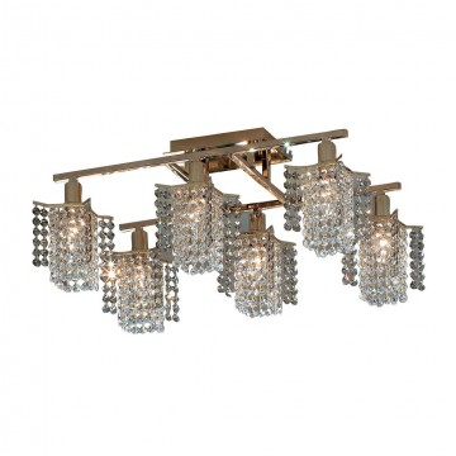 Потолочная люстра Citilux Лекс CL323261, 6xE14x60W, золото, прозрачный, металл, хрусталь